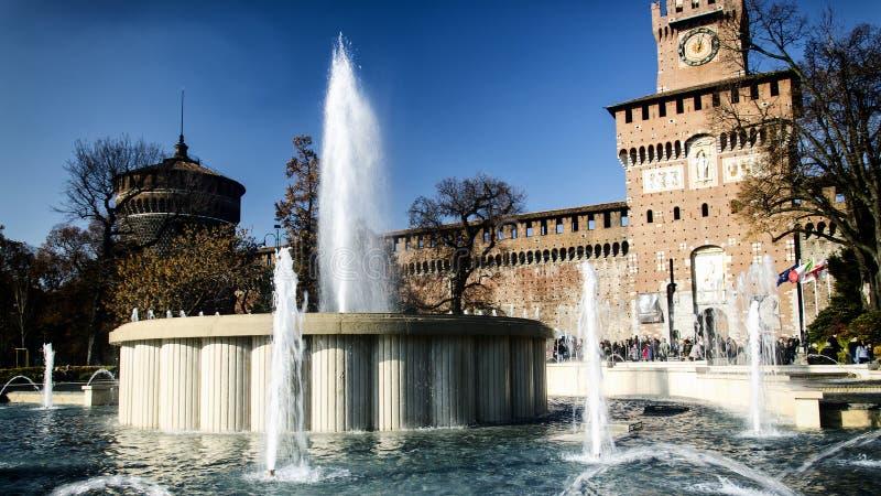 Milão, Castello Sforzesco foto de stock