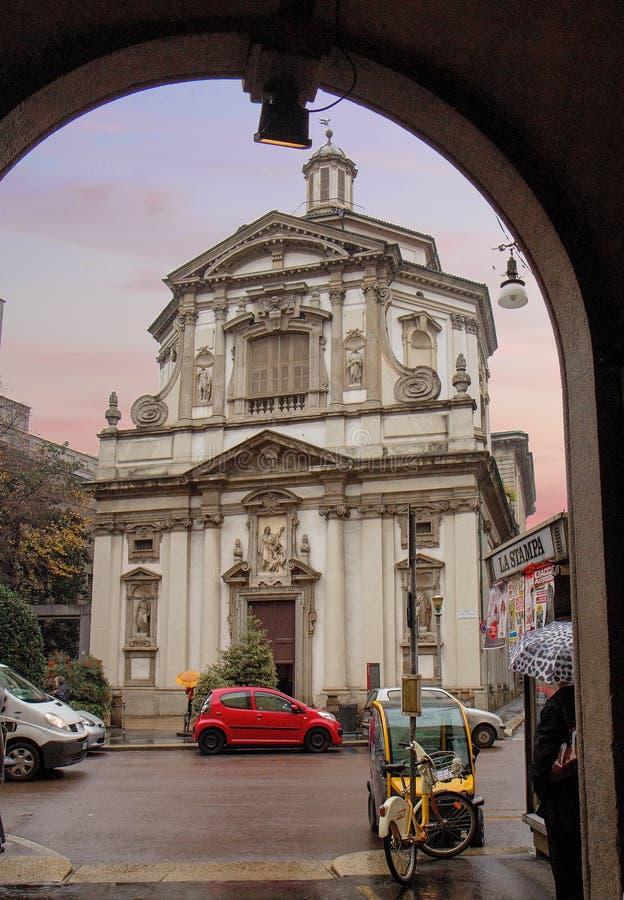Milão, Itália, igreja de San Giuseppe imagens de stock