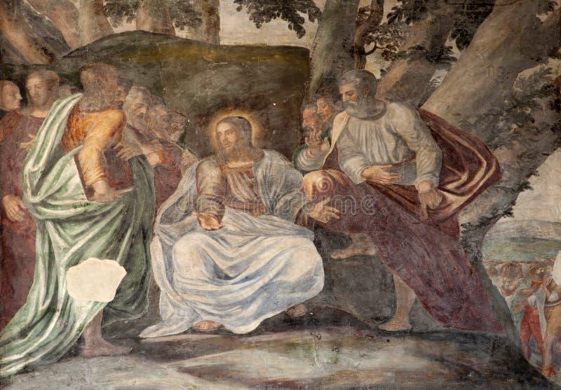 Milão - Jesus e apóstolo fotos de stock