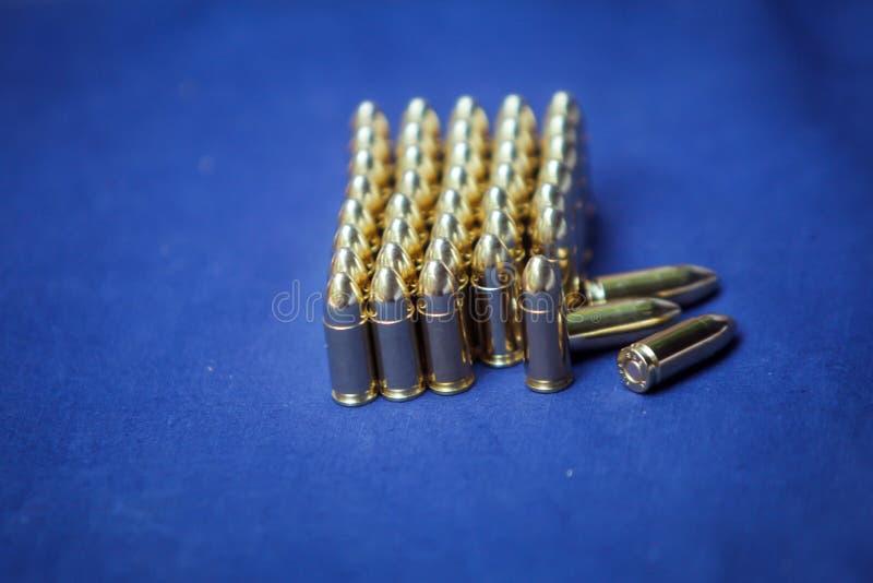 9 milímetros de munición imagen de archivo