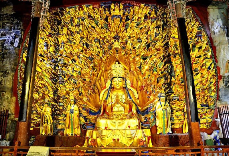 Mil bodhisattva del guanyin de las manos imagen de archivo libre de regalías