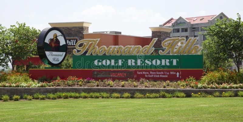 Mil centros turísticos del golf de las colinas en Branson, Missouri fotografía de archivo libre de regalías