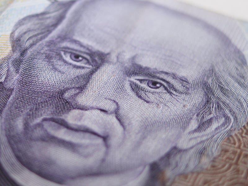Mil cierres de Bill del Peso mexicano PARA ARRIBA fotos de archivo
