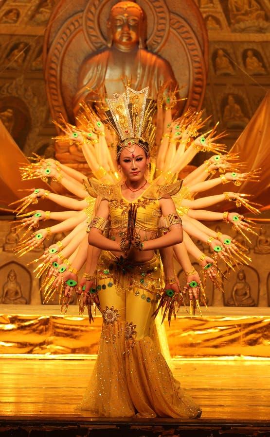 Mil danzas de la mano en China foto de archivo libre de regalías