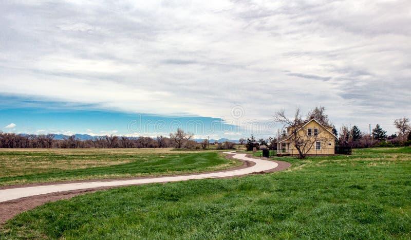 17 mil gospodarstwa rolnego parka ślad w Parker, Kolorado obrazy royalty free