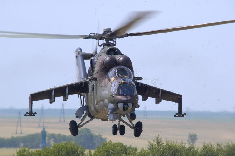 Mil Mi-24 Hind royalty free stock images