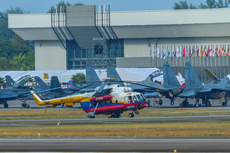 Mil Mi-17 biodra helikopter zdjęcia stock
