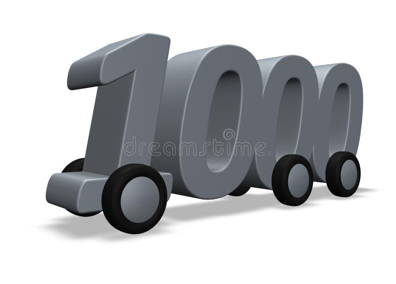 Mil nas rodas ilustração stock