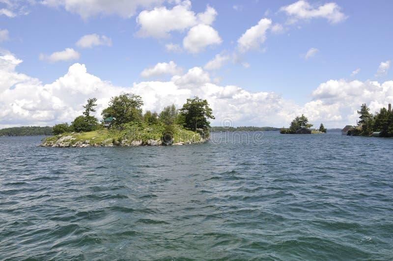 Mil paisagens do arquipélago das ilhas da província de Ontário em Canadá foto de stock royalty free
