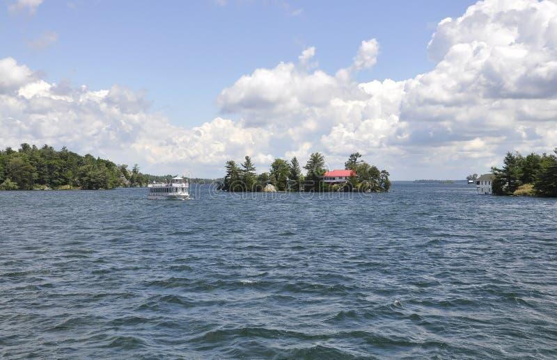 Mil paisagens do arquipélago das ilhas da província de Ontário em Canadá fotos de stock royalty free