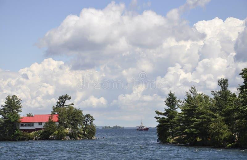 Mil paisagens do arquipélago das ilhas da província de Ontário em Canadá imagens de stock royalty free