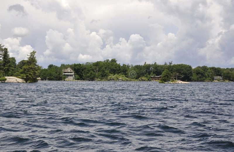 Mil paisagens do arquipélago das ilhas da província de Ontário em Canadá fotografia de stock royalty free