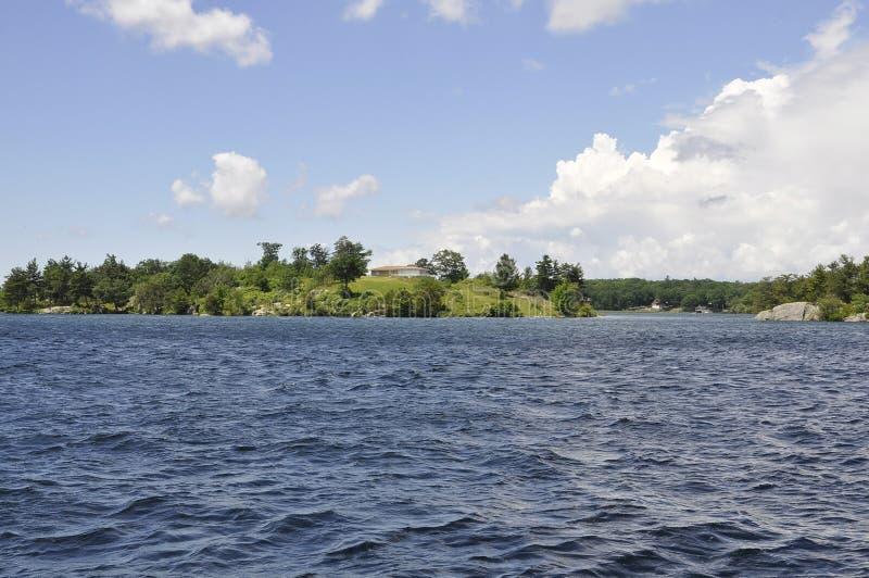 Mil paisagens do arquipélago das ilhas da província de Ontário em Canadá imagens de stock