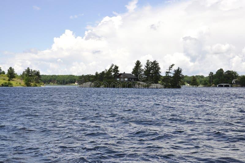 Mil paisagens do arquipélago das ilhas da província de Ontário em Canadá fotografia de stock