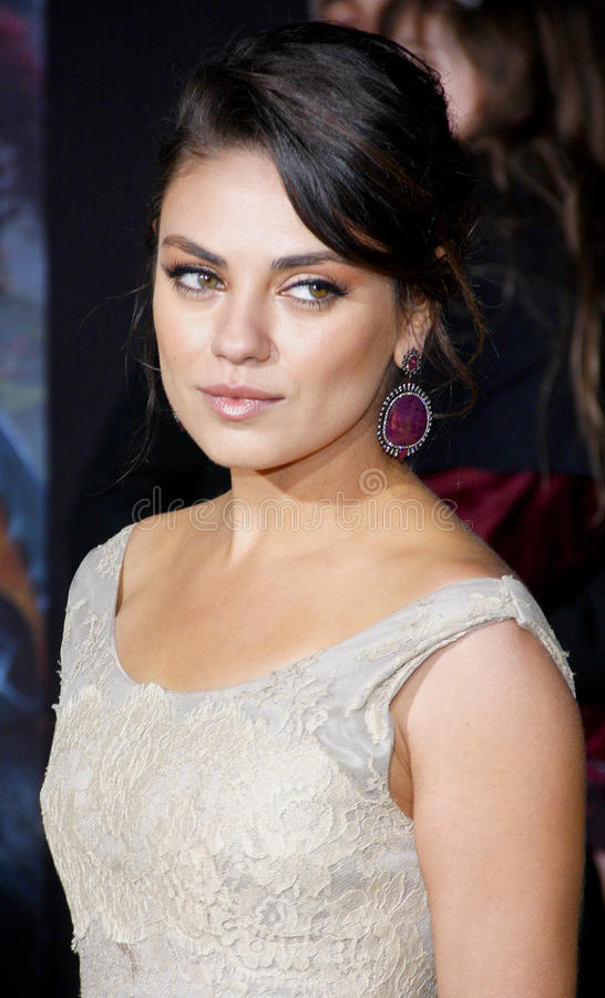 Mila Kunis. At the 'Oz The Great And Powerful' Los Angeles Premiere at the Dolby Theater on April 10, 2013 in Hollywood, California stock photos