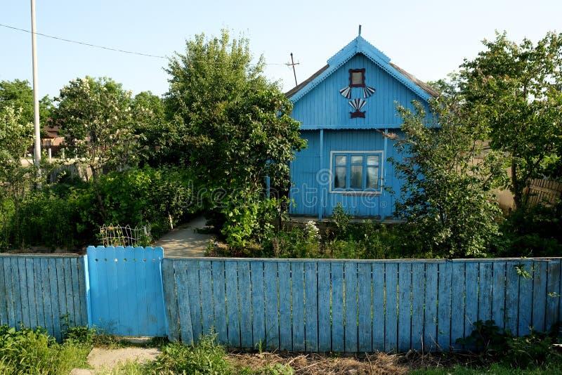 Mila 23, Roumanie, juin 2017 : maison traditionnelle dans le pêcheur de Mila 23 images stock