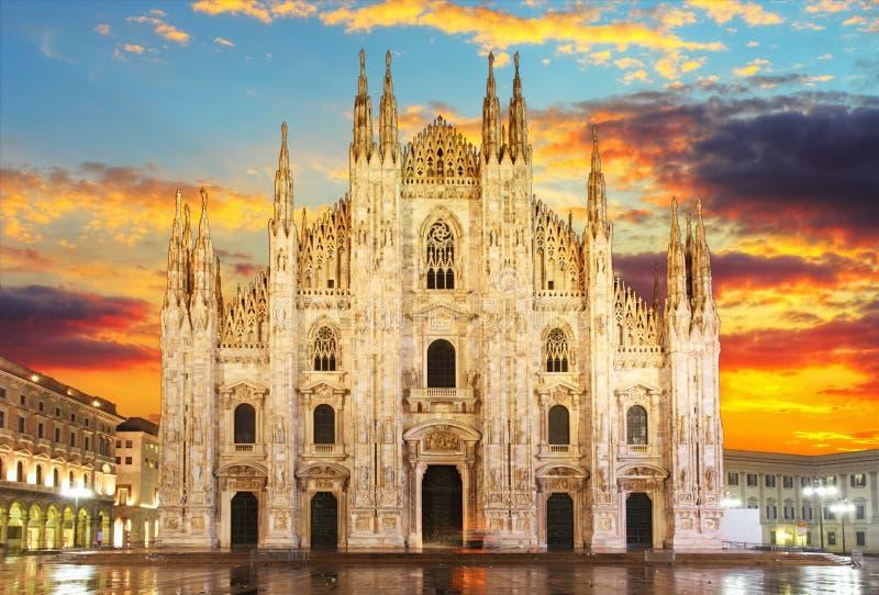 Milaan - Duomo stock fotografie