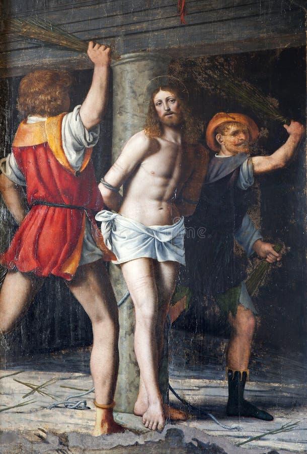 Milaan - Flagellatie van Christus royalty-vrije stock foto's