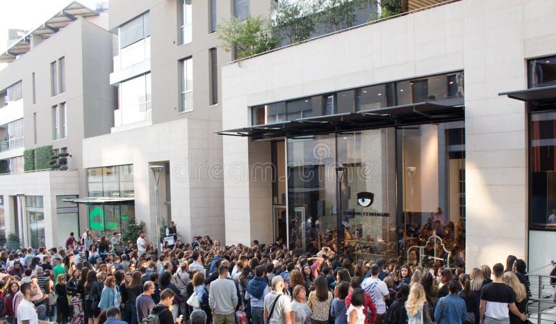 """Milaan, Italië †""""23 September: Chiara Ferragni, beroemde blogger, s stock afbeeldingen"""