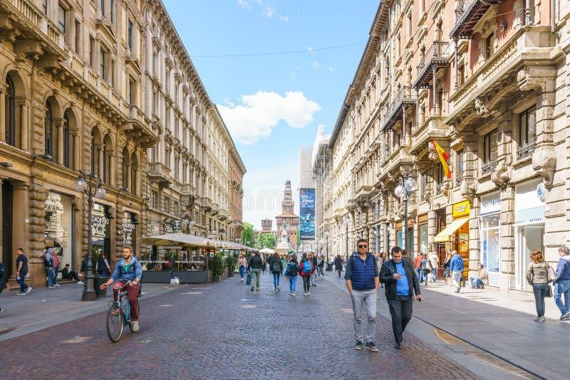 Milaan, Italië - April 28, 2017: Dag van architectuur van vi stock afbeelding