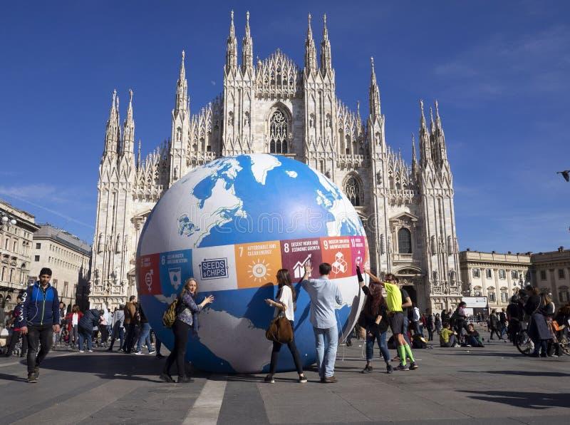 MILAAN, Itali?: 15 Mars 2019: Vrijdagen voor toekomst stock foto's