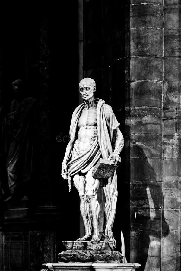 MILAAN, LOMBARDIJE, ITALIË - APRIL 07 2014: St. Bartho royalty-vrije stock foto