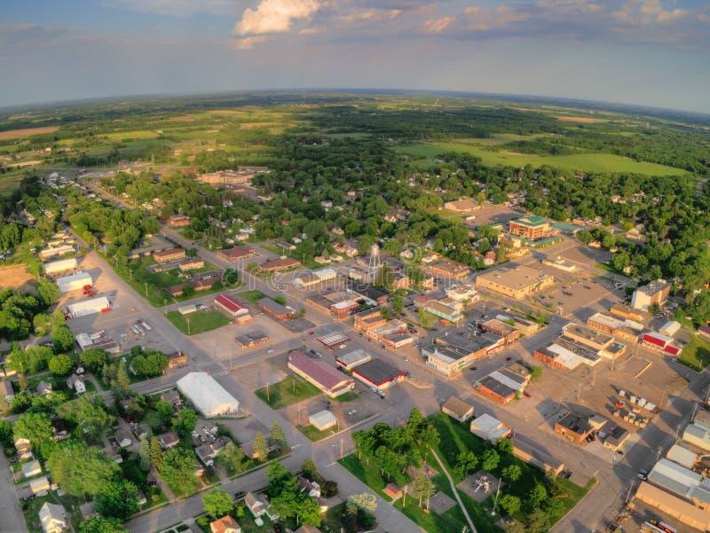 Milaca是一个小农村种田的镇在明尼苏达 免版税库存照片