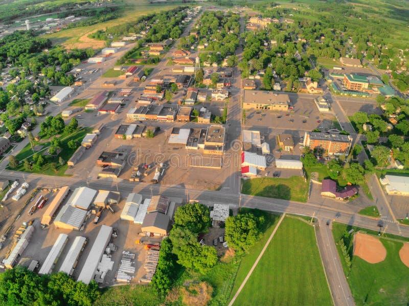 Milaca是一个小农村种田的镇在明尼苏达 库存图片