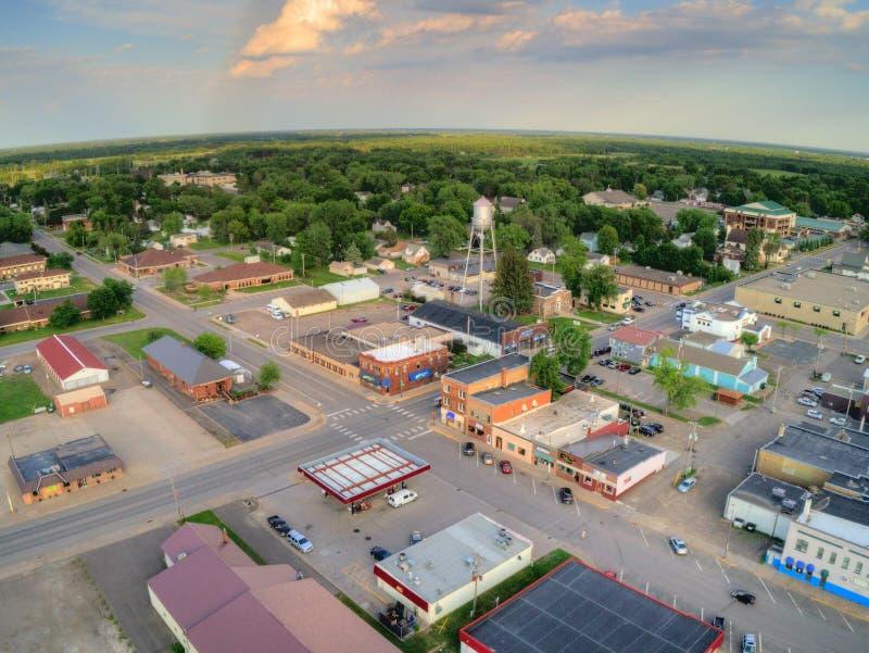 Milaca är en liten lantlig lantbrukstad i Minnesota arkivbilder