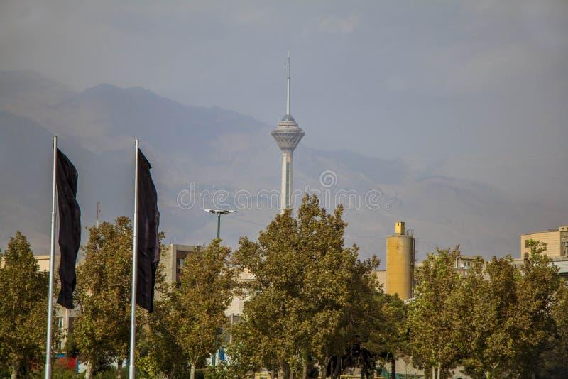 Milad torn Téhran arkivbilder