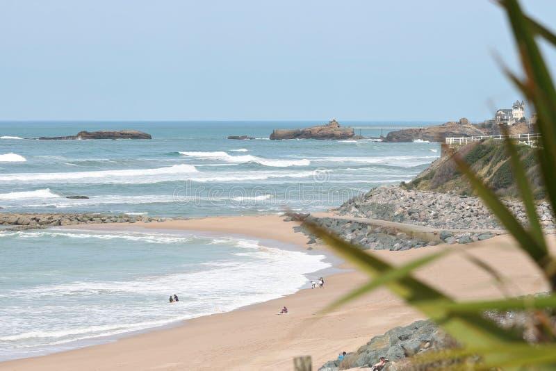 Milady пляжа в Биаррице стоковые фотографии rf