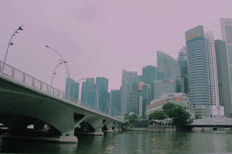 Milagre de Singapura imagens de stock