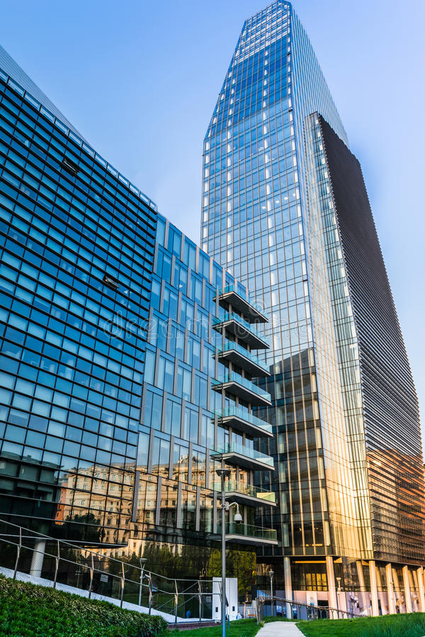 Milan Business district. porta nuova.italy, stock images