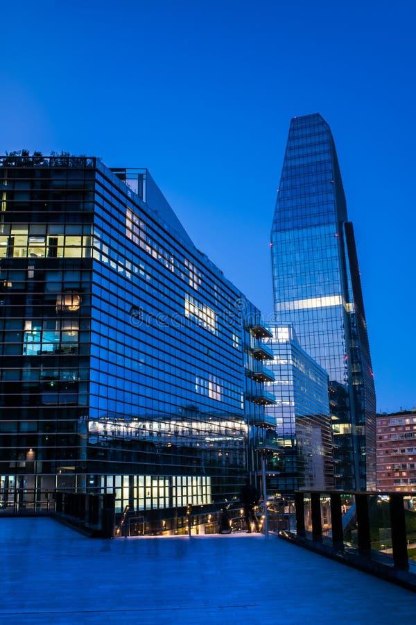 Milan Business område assisinuovaporta umbria Italien, arkivfoto