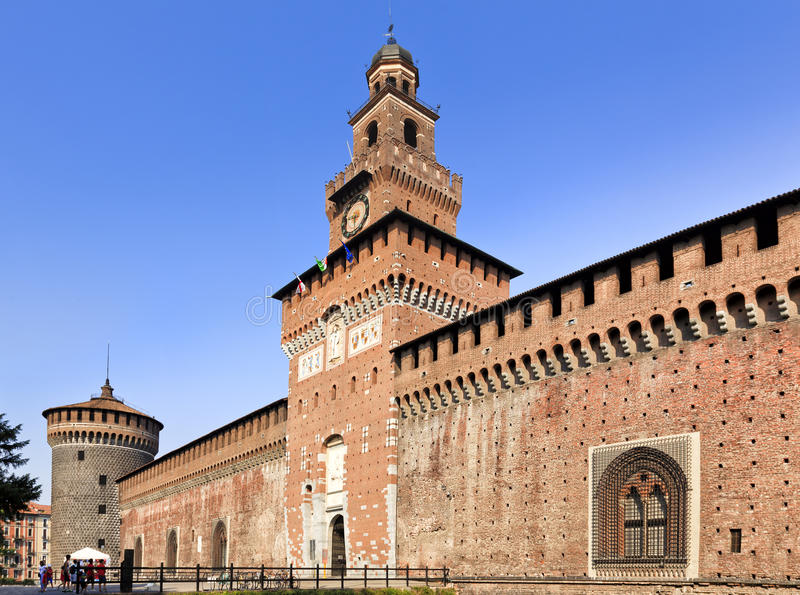 Milan Castle Close Day photographie stock