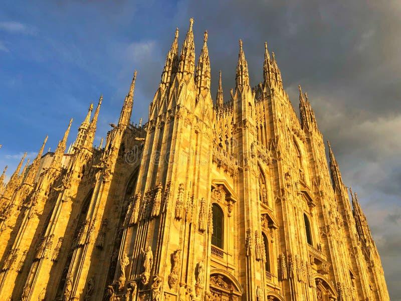 Milan Cathedral è la chiesa della cattedrale di Milano in Lombardia, no fotografie stock