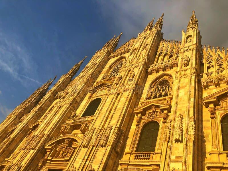 Milan Cathedral è la chiesa della cattedrale di Milano in Lombardia, no fotografia stock libera da diritti