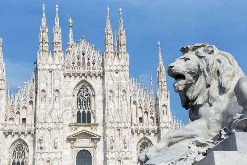 Milan Cathedral stock afbeeldingen