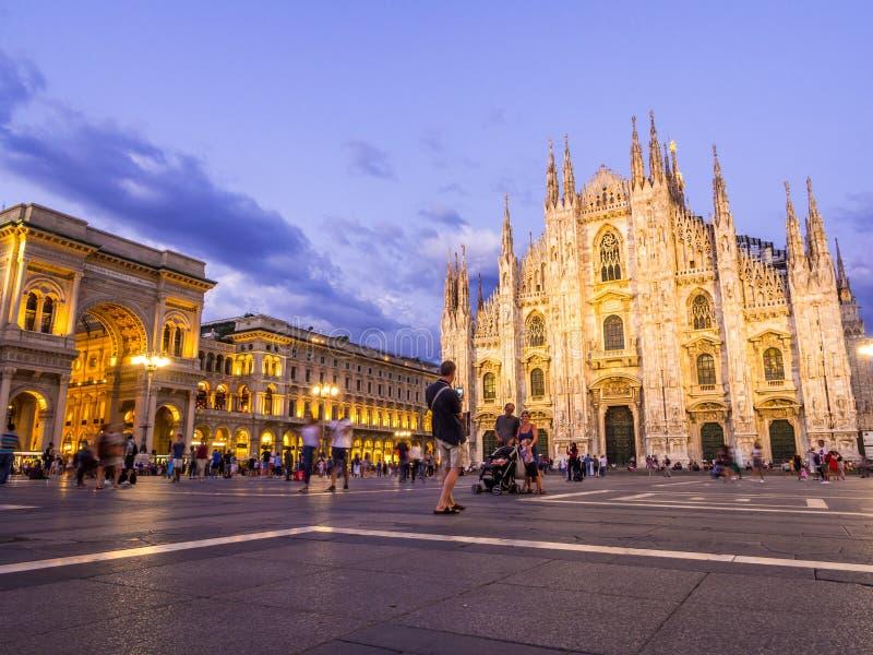 Milan Cathedral, Di Milano del duomo, di notte immagini stock