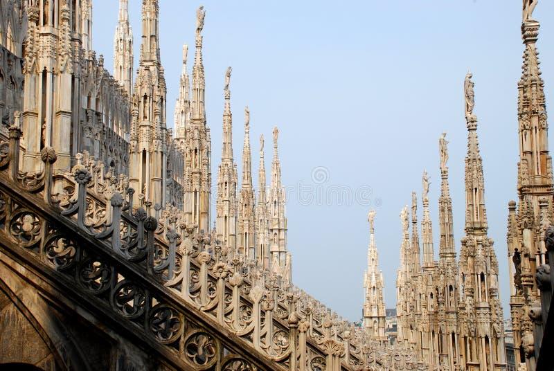 Milan Cathedral - Duomo, detail stock photos