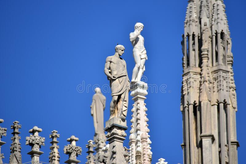 Duomo di Milano. Milan Cathedral Duomo di Milano in Italian is the cathedral church of Milan, Lombardy, Italy. Dedicated to the Nativity of St Mary Santa Maria stock photography