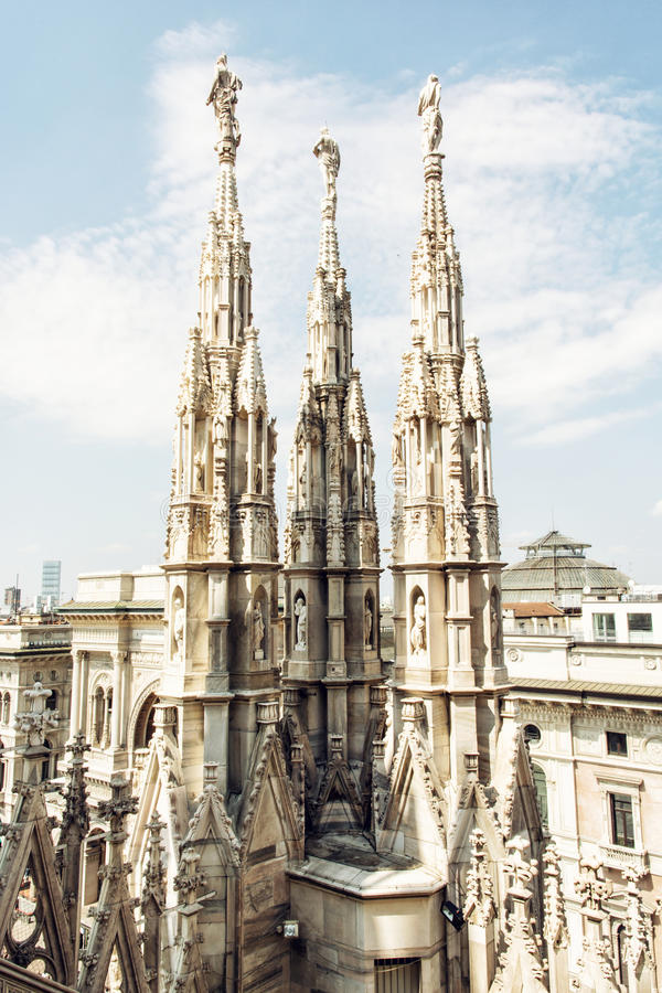 Milan cathedral (Duomo di Milano) in Italy stock photo