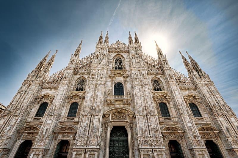 Milan Cathedral or Duomo di Milano in summer, Milan, Italy royalty free stock images