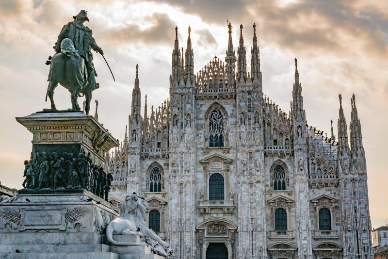 Milan Cathedral em Itália imagem de stock royalty free