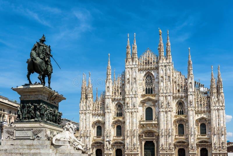 Milan Cathedral famoso, o Duomo, en Milán, Italia imagen de archivo libre de regalías