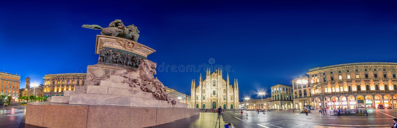 Milan Cathedral, Piazza del Duomo at night, Italy royalty free stock image