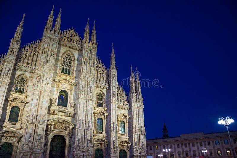 Milan Cathedral, Piazza del Duomo at night. Milan Cathedral, Piazza del Duomo at night, Lombardia, Italy royalty free stock images