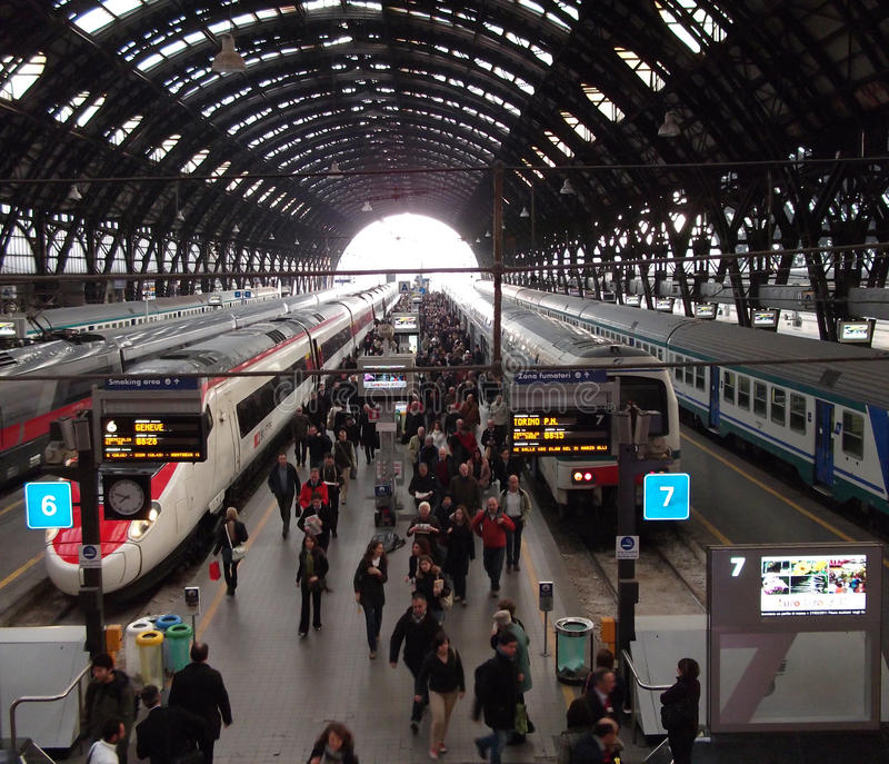 Milan Central Station. View of the central station of milan royalty free stock image