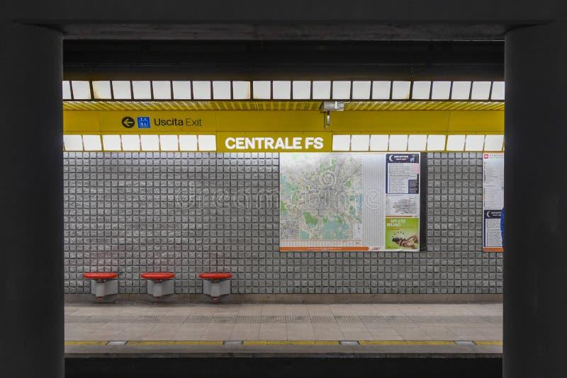Milan Central Station - Italia foto de archivo libre de regalías