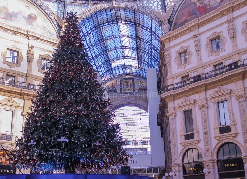 Milan Christmas-boom royalty-vrije stock foto's